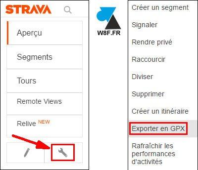 Strava export GPX