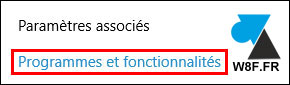 tutoriel Windows 10 Programmes et fonctionnalités