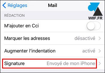 tutoriel iPhone iPad iOS supprimer signature mail