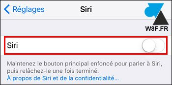 tutoriel iOS iPhone iPad desactiver Siri
