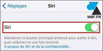 tutoriel iOS iPhone iPad sactiver Siri