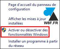 tutoriel Windows 10 installer fonctionnalité programme
