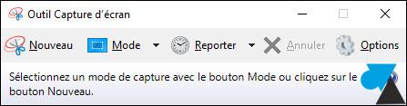 tutoriel outil capture écran Windows 10