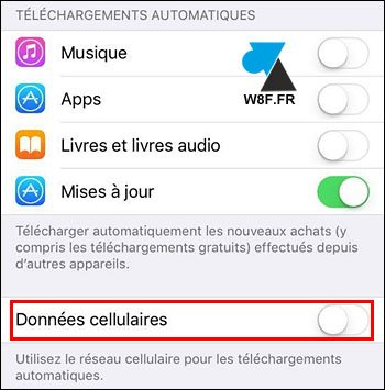 tutoriel iPhone iPad iPod iOS mise a jour automatique