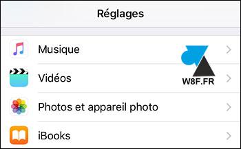 tutoriel iPhone iPad iPod afficher grille composition tiers photo