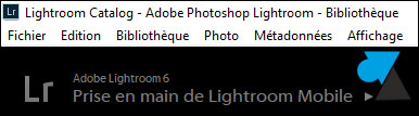 tutoriel Adobe Photoshop Lightroom
