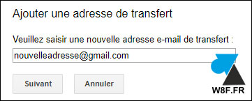 tutoriel Gmail transfert automatique mail message