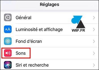 tutoriel iPhone iPad iOS reglages son sons