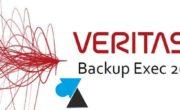 Prérequis pour Veritas Backup Exec 20