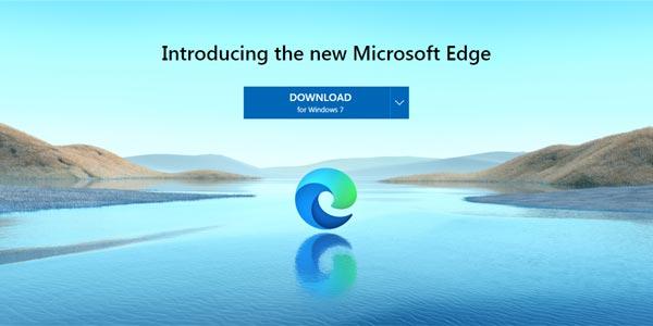 Télécharger Microsoft Edge 2020 version Chrome sur Windows 7