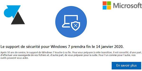 Fin du support de Windows 7 depuis le 14 janvier 2020 : que faire ?