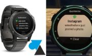 Montre Garmin : choisir les applications qui envoient des notifications