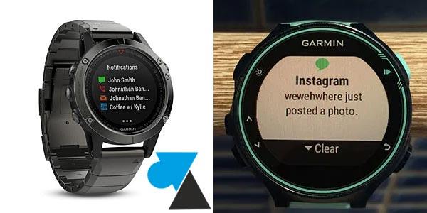 Garmin notification montre GPS