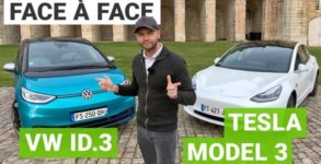 tesla model 3 vs vw id3