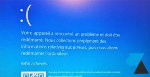 tutoriel Windows 10 BSOD écran bleu erreur