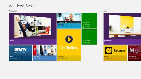 Aperçu: Windows Store, Intéressant ?