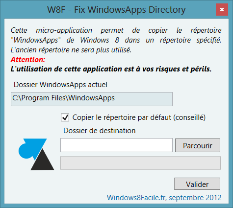 W8F – Fix WindowsApps Directory
