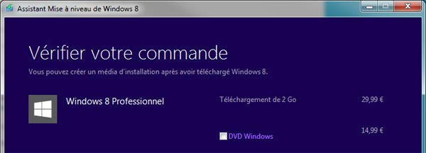 telechargement ou achat DVD Windows 8