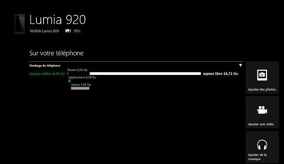 Windows Phone application détails