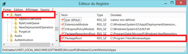 change apps directory regedit