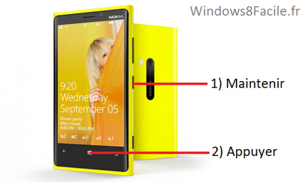 tutoriel screenshot capture ecran Windows Phone 8.1