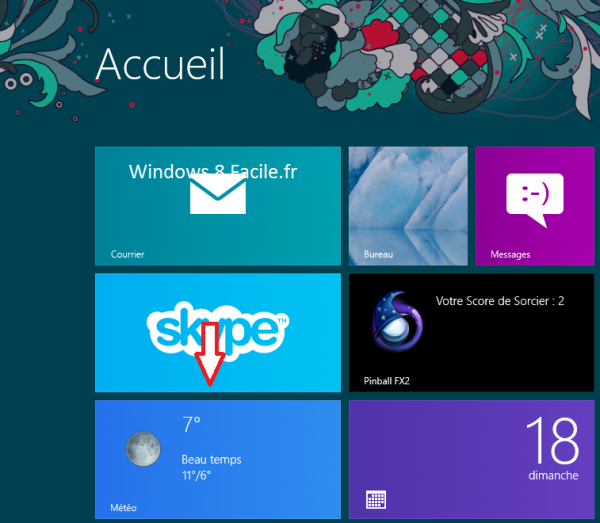 Windows 8 RT: déplacer une tuile 1