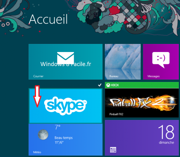 Windows 8 RT: déplacer une tuile 2