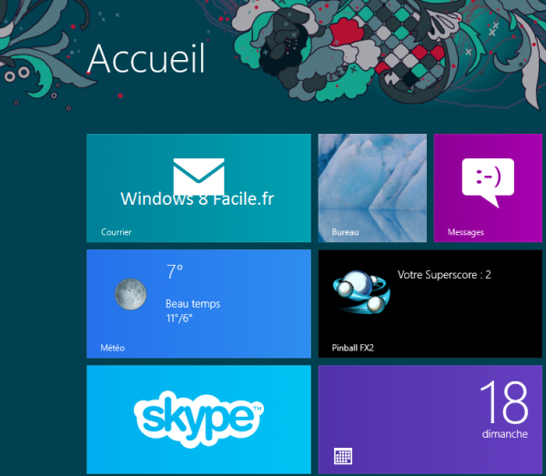 Windows 8 RT: déplacer une tuile 4