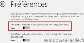 Windows Store Paramètre 3