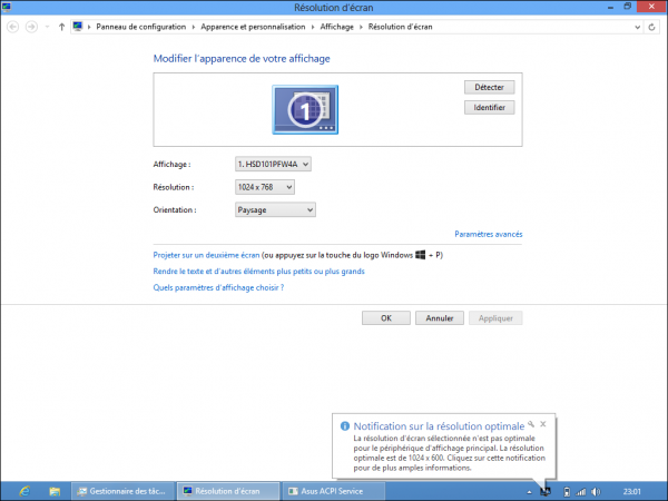 tutoriel netbook Asus eeePC X101CH Windows 8