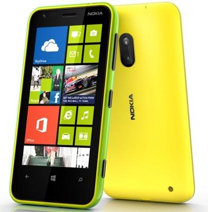 smartphone WP8 entree de gamme Nokia Lumia 620