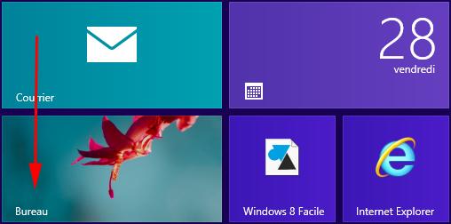 W8F ecran accueil W8 icone bureau
