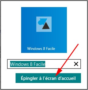 W8F icone ecran accueil Windows8