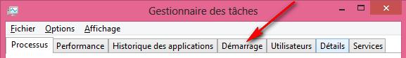 tutoriel comment faire recherche ouvrir Gestionnaire des taches Windows 8
