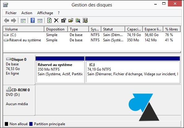 partition disque gros disque dur hdd pas cher Windows 8