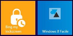 application Bing my lockscreen image ecran demarrage Windows 8