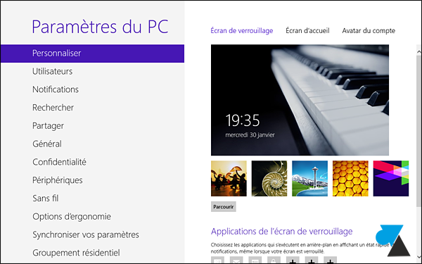 tutoriel modifier image fond ecran Windows 8