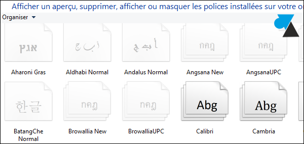 Windows8 installer nouvelle police caractere TTF OTF