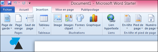 Office 2010 gratuit Word
