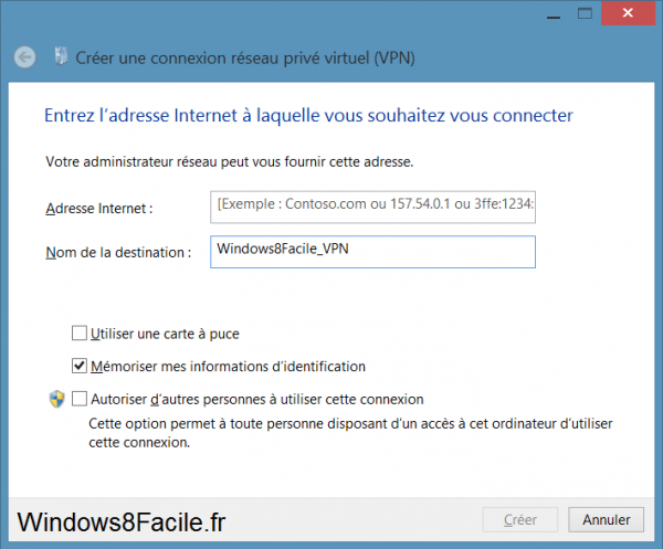 Windows 8 VPN configuration