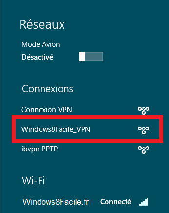 Windows 8 VPN liste
