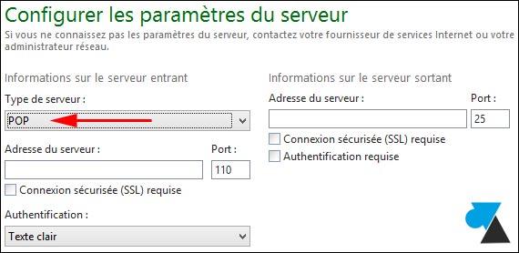 WLM Live Mail tutoriel configurer compte POP SMTP POP3