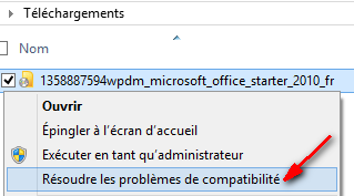 Office 2010 Starter solution probleme installation