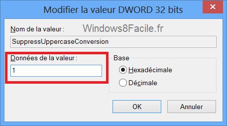 Visual Studio 2012 majuscule menu edition clé