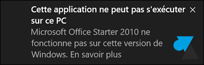 Office Starter 2010 gratuit Windows 10