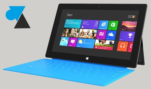 W8F tablette Surface Windows 8 RT