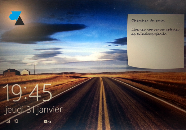 Windows 8 lockscreen