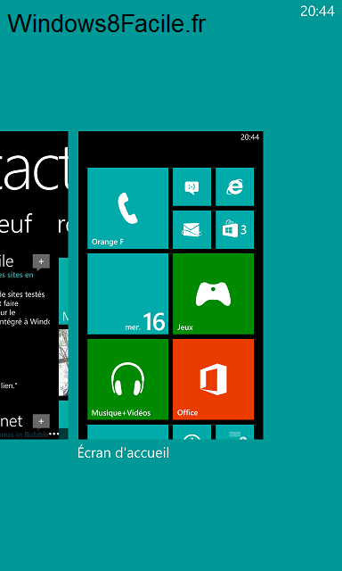 Windows Phone 8 gestionnaire applications