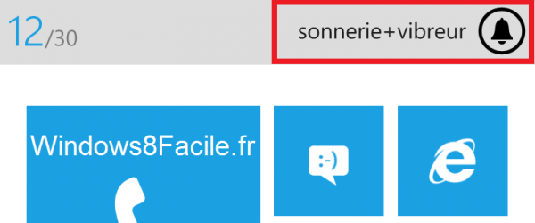 Windows Phone sonnerie + vibreur