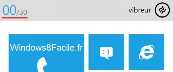 Windows Phone volume bas vibreur